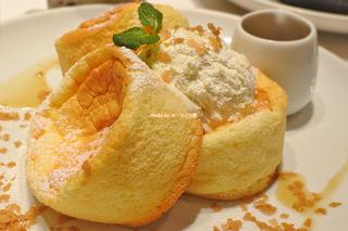オシャレなパンケーキランチ!スフレクラシックのセット「Butter(バター)あべのHoop店」大阪メトロ天王寺駅