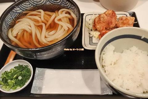 ランチがお得!ひやかけうどんと唐揚げのランチ定食「うだま 梅田店」大阪メトロ梅田駅