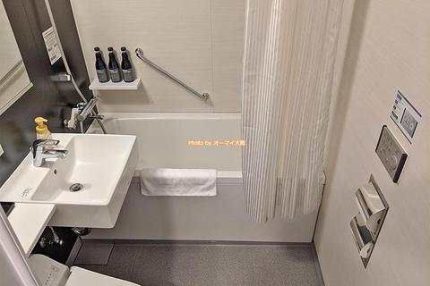 風呂とアメニティのレビュー「プレミアホテルキャビン大阪」出張や観光に便利なビジネスホテル