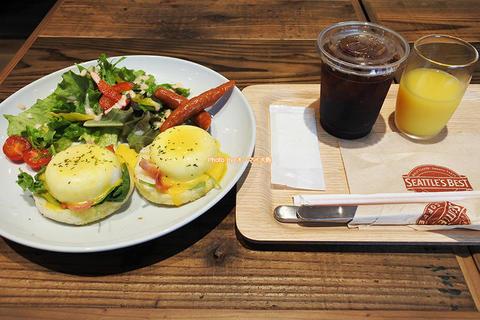 朝食は1階のシアトルズベストコーヒー「ウェリナホテルプレミア中之島イースト」ビジネスホテル朝食レビュー