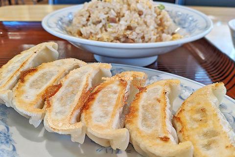 大盛りチャーハンと餃子6個の中華ランチ「ぎょうざの満州」大阪メトロ長居駅